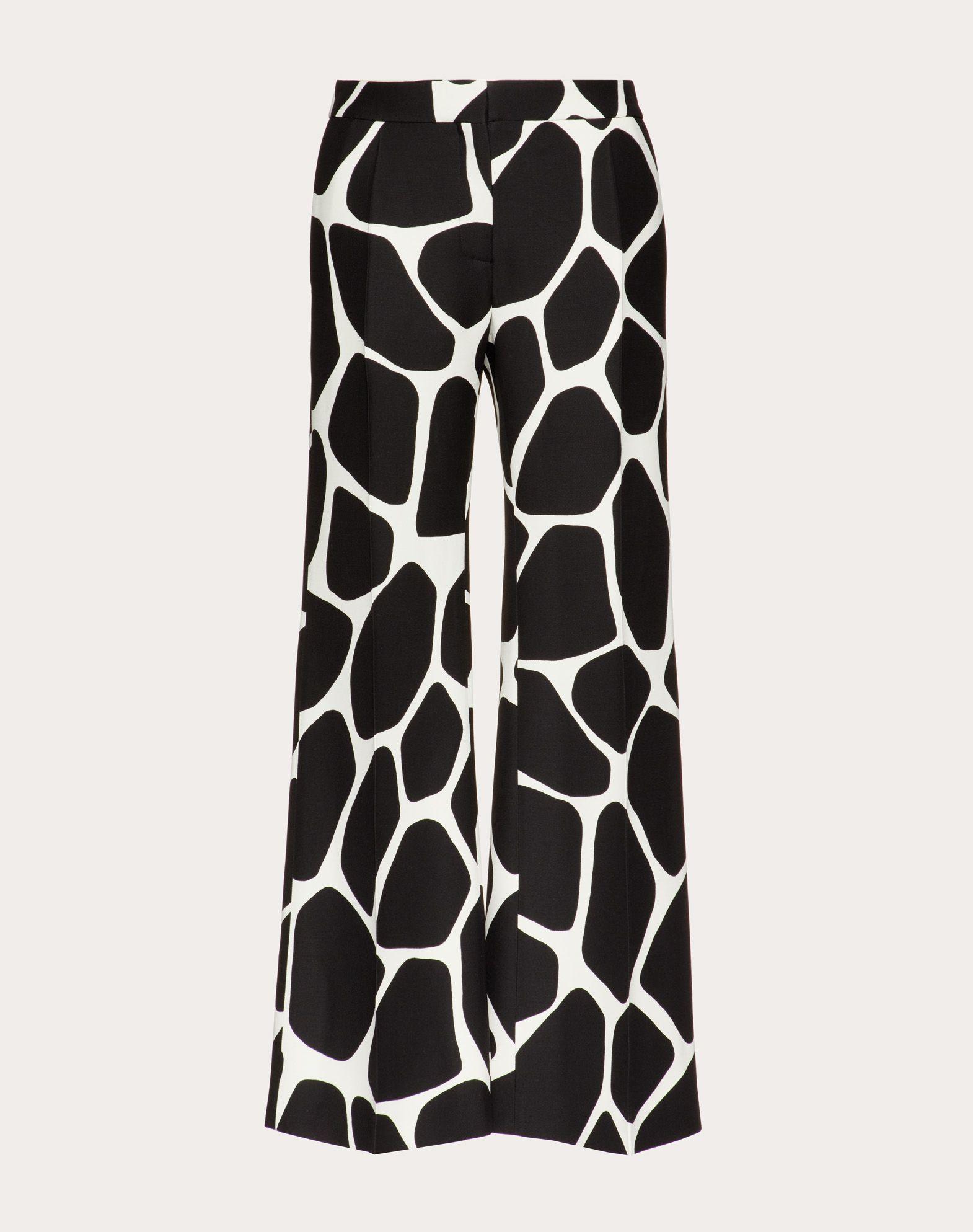 Pantalon imprimé en crêpe couture