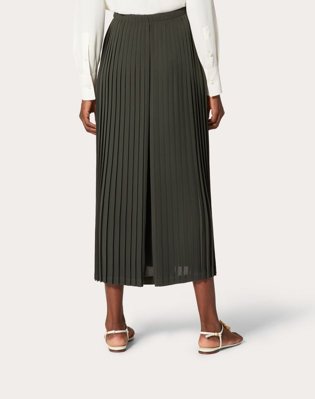 Pleated Georgette Culottes