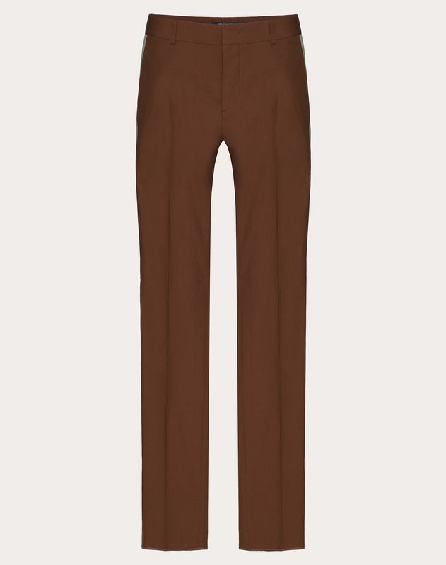 SLIM-LEG COTTON PANTS