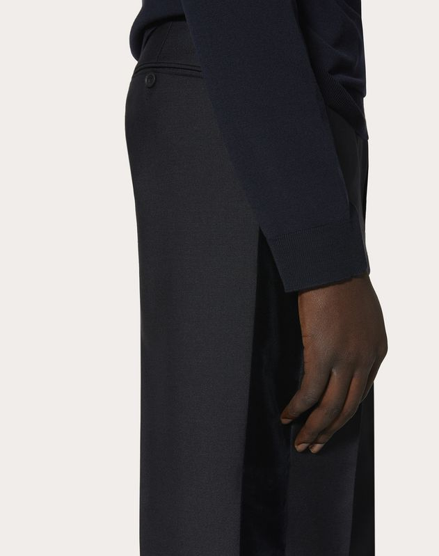TROUSERS WITH VELVET SIDE STRIPES
