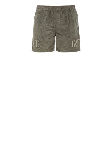 STONE ISLAND B0444 NYLON METAL-FLECK TREATMENT  Swimming trunks Man Olive Green EUR 170
