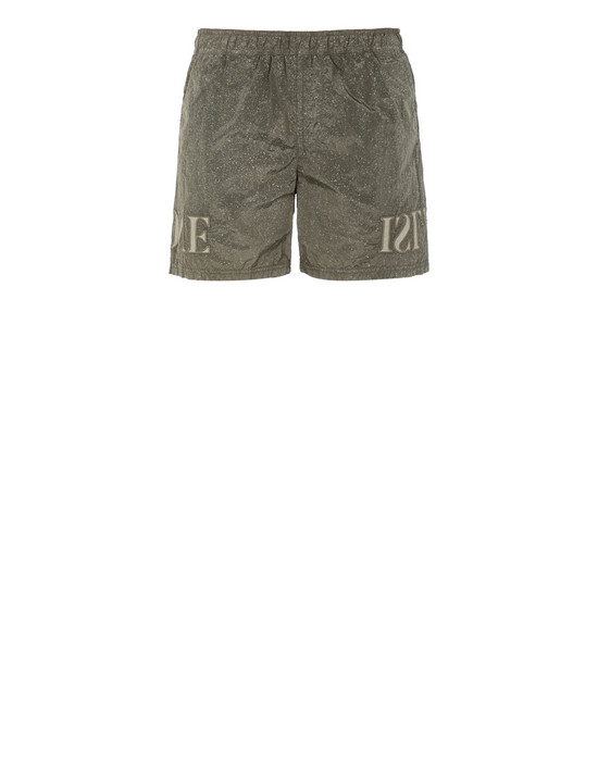 STONE ISLAND B0444 NYLON METAL-FLECK TREATMENT  Badeboxer Herr Olivgrün
