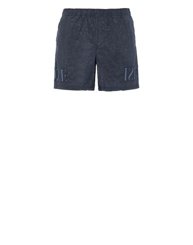 STONE ISLAND B0444 NYLON METAL-FLECK TREATMENT  Swimming trunks Man Marine Blue USD 202