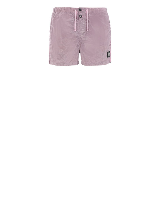 STONE ISLAND B0643 NYLON METAL Swimming trunks Man Pink Quartz