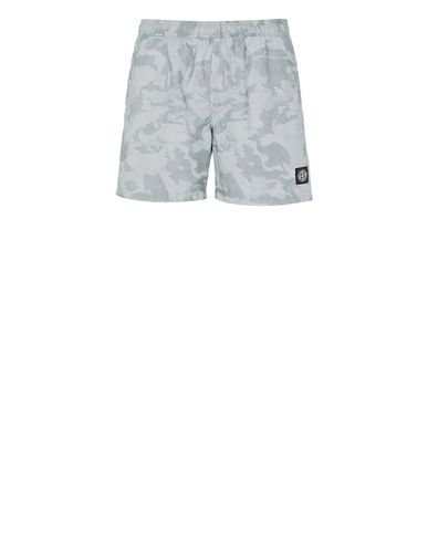 STONE ISLAND B09EA BIG LOOM CAMO Swimming trunks Man Pale Blue USD 178