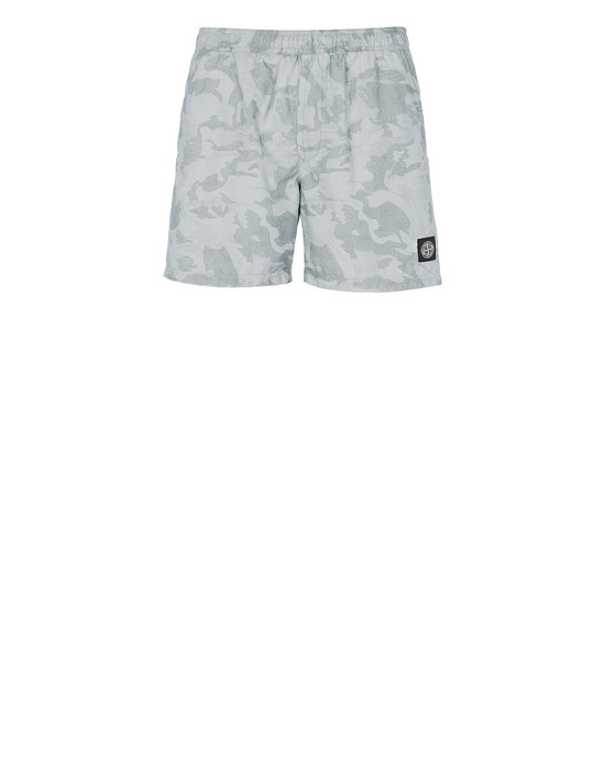 STONE ISLAND B09EA BIG LOOM CAMO Swimming trunks Man Baby Blue