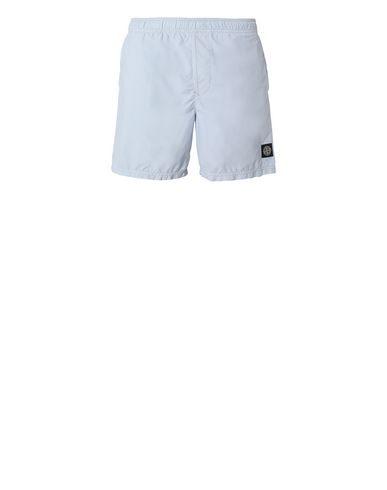 STONE ISLAND B0946 Swimming trunks Man Sky Blue EUR 133