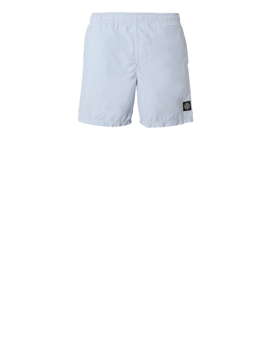 STONE ISLAND B0946 Swimming trunks Man Pale Blue