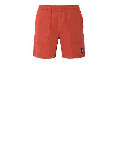 STONE ISLAND B0234 S.I.PA/PL SEERSUCKER-TC  Swimming trunks Man Lobster Red USD 146