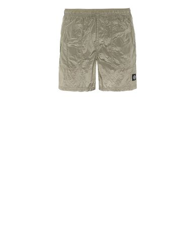 STONE ISLAND B0543 NYLON METAL Swimming trunks Man Dark Beige EUR 158