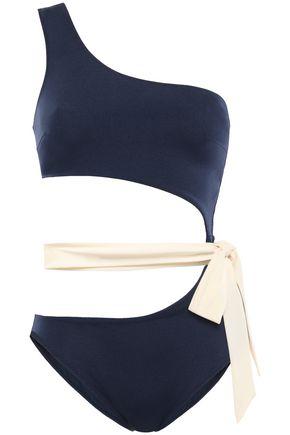 EMMA PAKE Ruched halterneck swimsuit
