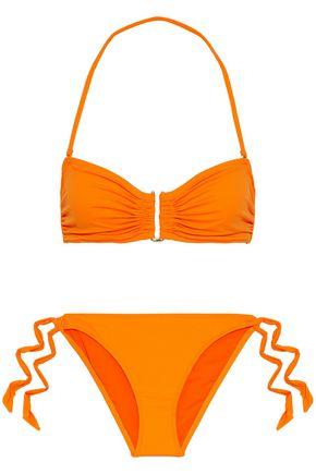 IRIS & INK Dahlia ruched bandeau bikini