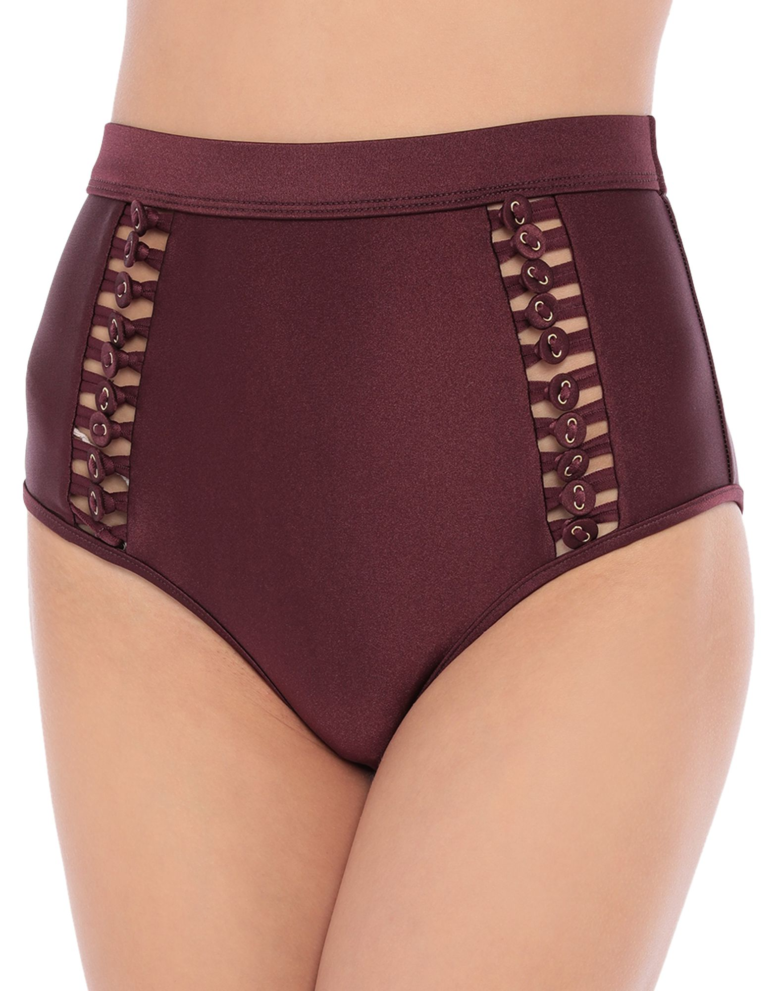 ZIMMERMANN Bikini bottoms. synthetic jersey, contrasting applications, basic solid color, stretch. 80% Polyamide, 20% Elastane