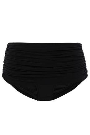NORMA KAMALI Layered ruched bikini briefs