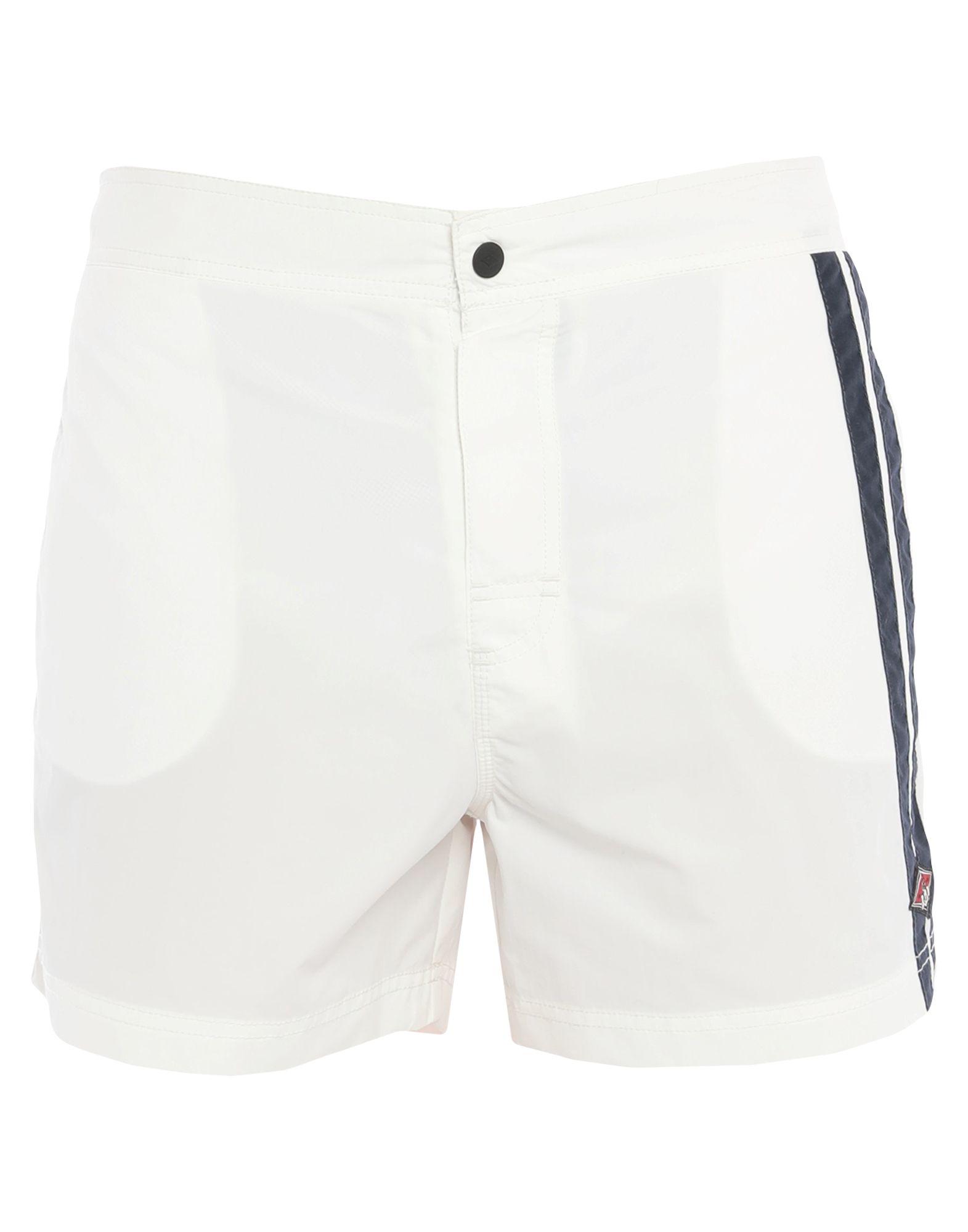《セール開催中》BEAR メンズ 水着(ボクサーパンツ) ホワイト 38 ナイロン 100%