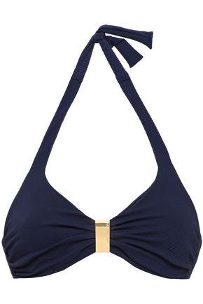 MELISSA ODABASH Provence stretch-piqué halterneck bikini top