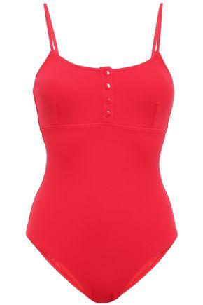 MELISSA ODABASH Calabasas stretch-piqué swimsuit