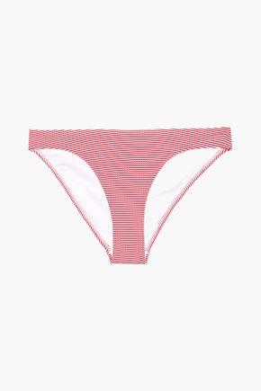 MELISSA ODABASH St. Kitts striped stretch-jersey low-rise bikini briefs