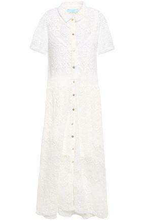 MELISSA ODABASH April guipure lace midi dress