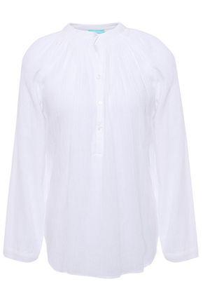 MELISSA ODABASH Georgia crinkled cotton-gauze top