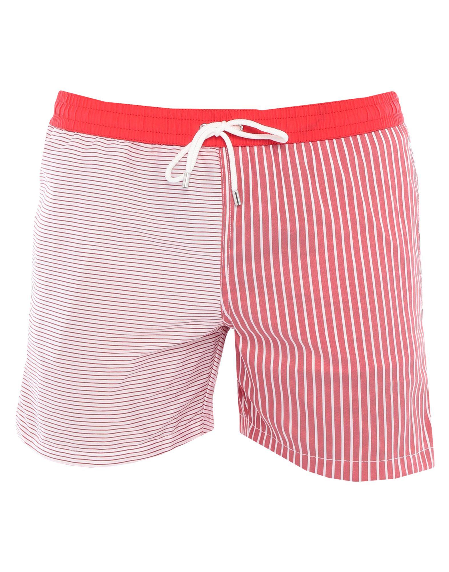 ELEVENTY Swim trunks. techno fabric, no appliqués, stripes, multipockets, drawstring closure, internal slip, stretch. 71% Polyester, 29% Elastane