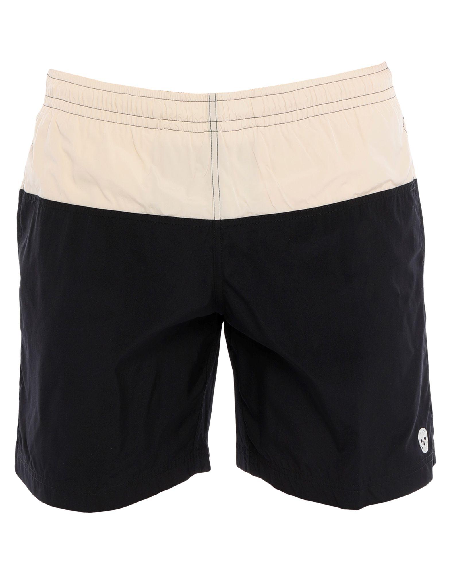 ALEXANDER MCQUEEN Swim trunks. techno fabric, logo, laces, two-tone, no fastening, multipockets, elasticized waist, internal slip. 100% Polyamide, Polyester