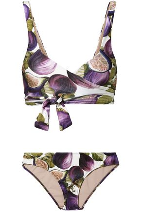 ADRIANA DEGREAS Printed wrap bikini