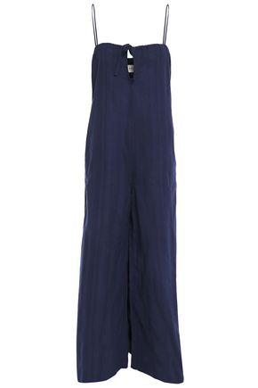 MARA HOFFMAN Cutout cotton-jacquard jumpsuit