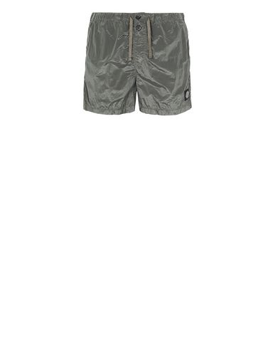 STONE ISLAND B0643 NYLON METAL Swimming trunks Man Olive Green EUR 133