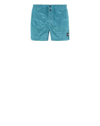 STONE ISLAND B0643 NYLON METAL Swimming trunks Man Turquoise EUR 133