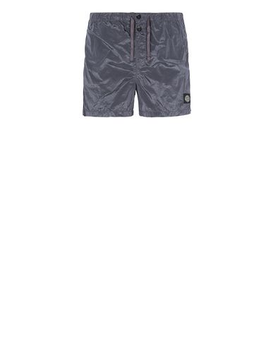 STONE ISLAND B0643 NYLON METAL Swimming trunks Man Blue Grey EUR 145