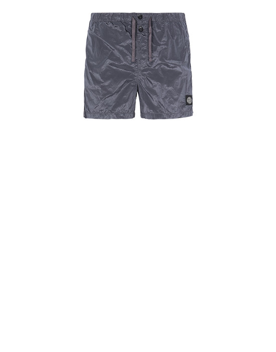 STONE ISLAND B0643 NYLON METAL Swimming trunks Man Blue Grey