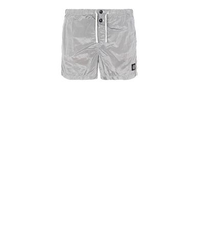 STONE ISLAND B0643 NYLON METAL Swimming trunks Man Dust Grey EUR 145