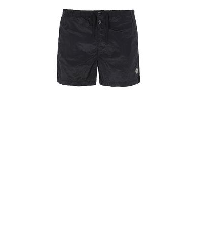 STONE ISLAND B0643 NYLON METAL Swimming trunks Man Black USD 185