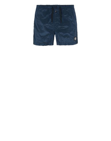 STONE ISLAND B0643 NYLON METAL Swimming trunks Man Marine Blue EUR 133