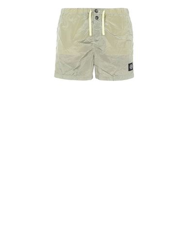 STONE ISLAND B0643 NYLON METAL Swimming trunks Man Lemon USD 129