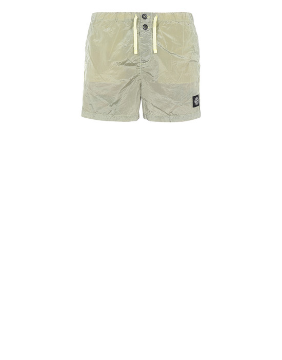 STONE ISLAND B0643 NYLON METAL Swimming trunks Man Lemon
