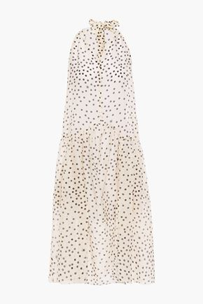 STELLA McCARTNEY Printed cotton and silk-blend mousseline coverup