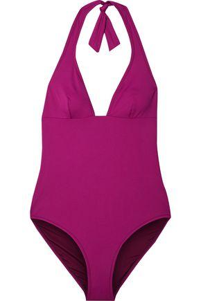 IRIS & INK Wisteria halterneck swimsuit