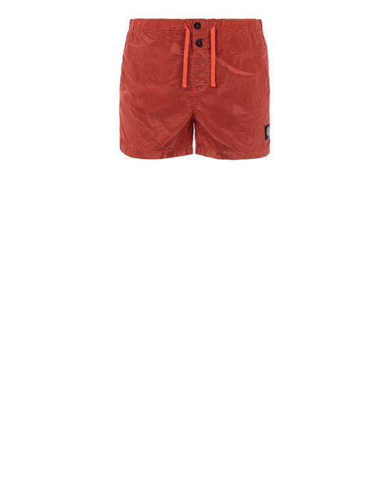 STONE ISLAND B0643 NYLON METAL Swimming trunks Man Lobster Red