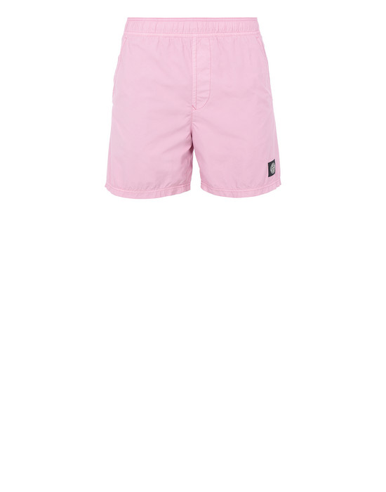 STONE ISLAND B0946 Swimming trunks Man Pink Quartz