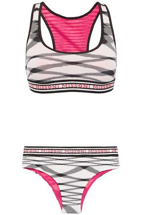 MISSONI MARE Mare monogram-trimmed crochet-knit bikini