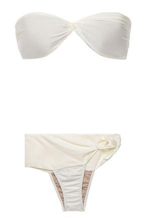 ADRIANA DEGREAS Twist-front bandeau bikini