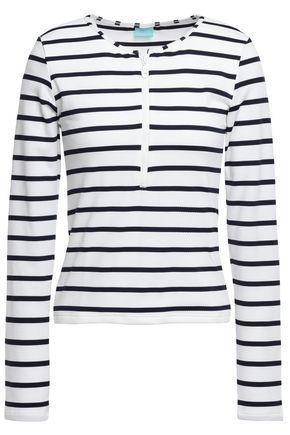 MELISSA ODABASH Cali metallic striped stretch-knit top