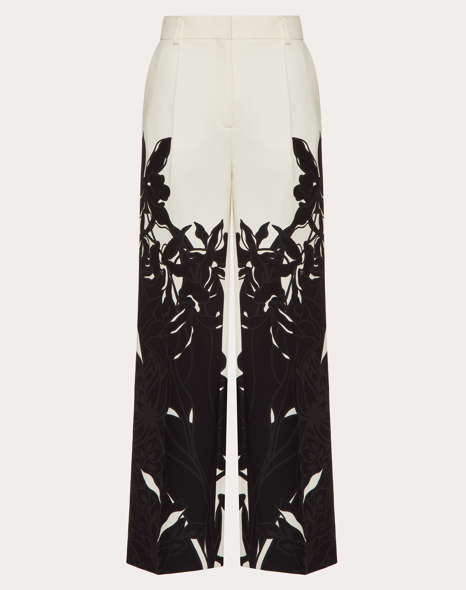 Printed Crepe Couture Trousers