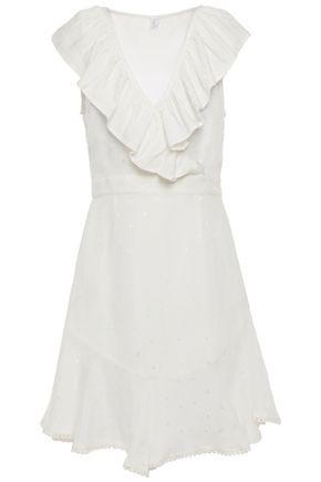 TIGERLILY Ruffled jacquard mini dress