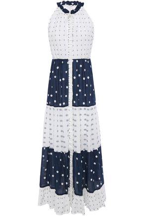 TIGERLILY Fil coupé jacquard and polka-dot cotton-voile maxi dress