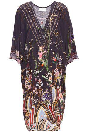 CAMILLA Wild Flower crystal-embellished printed silk crepe de chine kaftan