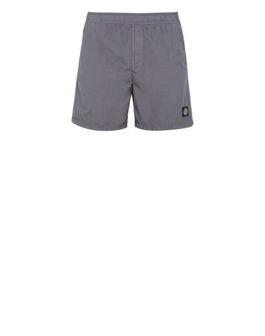 STONE ISLAND B0946 Swimming trunks Man Blue Grey EUR 145