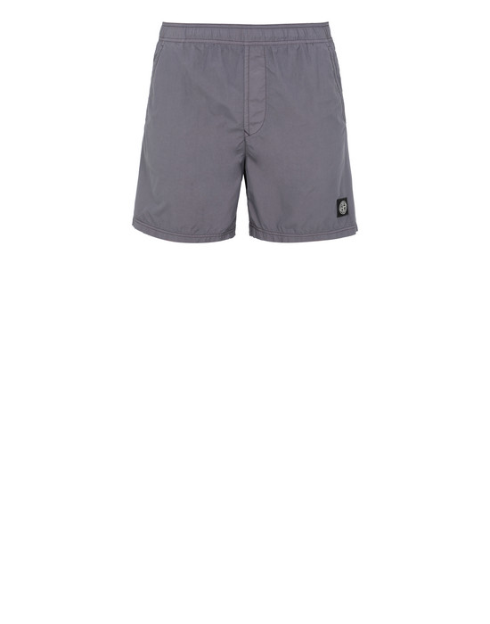 STONE ISLAND B0946 Swimming trunks Man Blue Grey